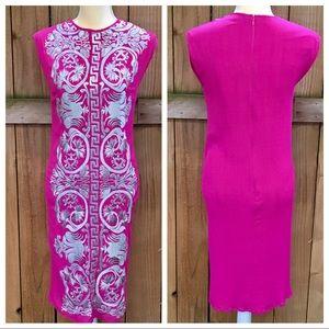 Dresses & Skirts - Akaash Mumbai Shift Dress w/Silver Embroidery EUC